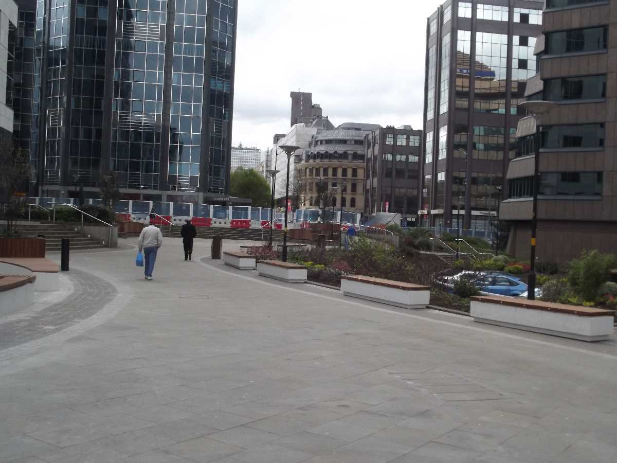 A look round Colmore Square, between Colmore Row and Steelhouse Lane
